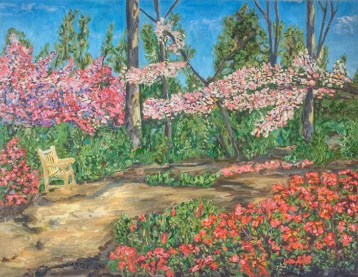 Цветущий сад мечты моей цветущий сад